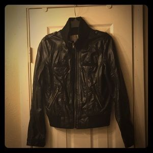 Xhilaration faux leather crop jacket